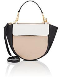 a8805b24fe25 Fendi Big Mama Leather Shoulder Bag in White - Lyst