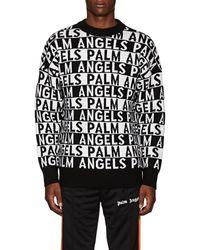 Palm Angels - Striped-logo Wool Jumper - Lyst
