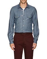 Kiton - Herringbone Wool Shirt - Lyst