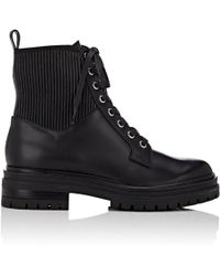 Gianvito Rossi - Martis Leather Combat Boots - Lyst