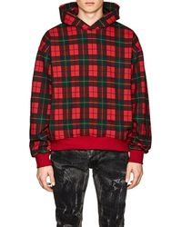 Fear Of God - Plaid Cotton Terry Oversized Hoodie - Lyst