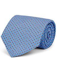 Ralph Lauren Purple Label - Hexagon-print Silk Satin Necktie - Lyst