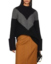 Derek Lam - Chevron-striped Cashmere Sweater - Lyst