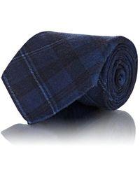 Ralph Lauren Purple Label - Plaid Cashmere-silk Necktie - Lyst