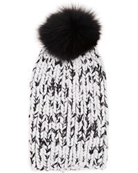 72eb51e1002 Eugenia Kim Rain Faux Fur-trimmed Chunky-knit Wool Beanie in Gray - Lyst