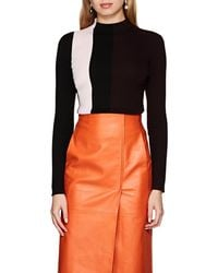 Narciso Rodriguez - Colorblocked Fitted Sweater - Lyst