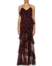 Raquel Diniz - Jade Floral Silk Long Dress Size 38 It - Lyst
