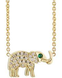 Jennifer Meyer Elephant Charm Necklace - Yellow
