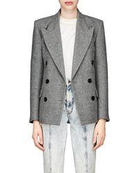 Isabel Marant - Eleigh Striped Wool-linen Blazer - Lyst
