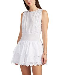 Sir. The Label - Gabriel Floral-embroidered Cotton Minidress - Lyst