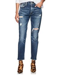 Moussy - High-rise Tapered Skinny Jeans - Lyst