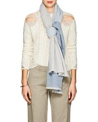 Barneys New York - Colorblocked Cashmere Scarf - Lyst