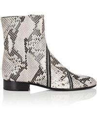 Alumnae - Garconne Stamped Leather Ankle Boots - Lyst