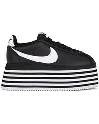 Comme des Garçons - Cortez Leather Platform Sneakers - Lyst