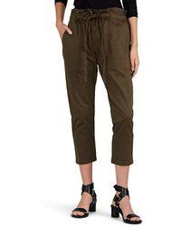 Current/Elliott - Tabloid Cotton Twill Crop Trousers - Lyst