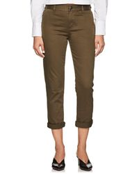 Current/Elliott - Confident Cotton Mid-rise Pants - Lyst