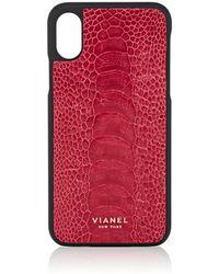 Vianel - Ostrich Iphone® X Case - Lyst