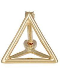 Shihara - 3d Triangle Earring - Lyst