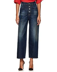 MM6 by Maison Martin Margiela - High-rise Tapered Wide-leg Jeans - Lyst