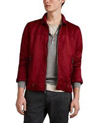 John Varvatos - Washed Silky Twill Zip-front Shirt Jacket - Lyst