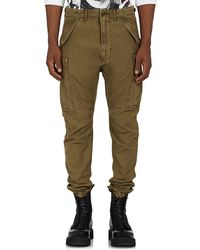 R13 - Drop-rise Cotton Canvas Cargo Trousers - Lyst