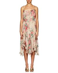 Zimmermann - Laelia Floral Silk Tiered Dress - Lyst