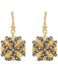 Cathy Waterman - Lichen Drop Earrings - Lyst