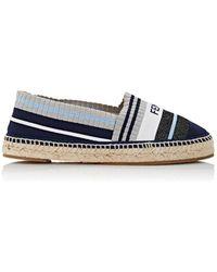Fendi | Logo Striped Knit Espadrilles | Lyst