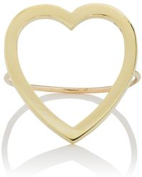 Jennifer Meyer - Large Open Heart Ring - Lyst