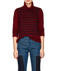Barneys New York - Striped Cashmere Turtleneck Jumper - Lyst