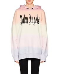 Palm Angels - Logo Cotton Hoodie Size Xxs - Lyst