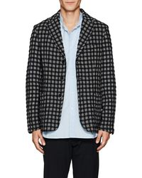 Barena - Checked Wool-cotton Three-button Sportcoat - Lyst