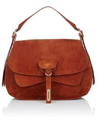 Fontana Milano 1915 - Wight Medium Suede Saddle Bag - Lyst