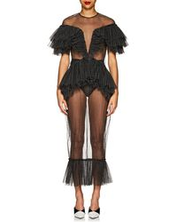 Kalmanovich - Dotted Sheer Tulle Gown - Lyst