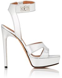 Givenchy - Shark Line Metallic Leather Platform Sandals - Lyst