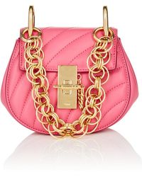 Chloé - Drew Mini Leather Crossbody Bag - Lyst