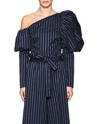 OSMAN | Orla Striped Cotton Asymmetric Top | Lyst