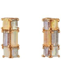 Nak Armstrong - Stacked Gemstone Stud Earrings - Lyst