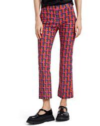 PT01 Multicolour Cotton Trousers - Red