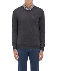 Barneys New York - Wool Crewneck Sweater - Lyst