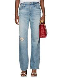 3x1 - Addie Distressed Wide-leg Jeans - Lyst
