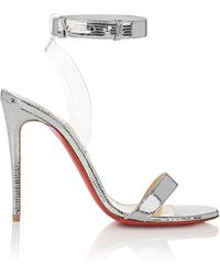 Christian Louboutin | Jonatina Leather & Pvc Sandals | Lyst