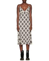 Marc Jacobs - Checked Midi Dress - Lyst