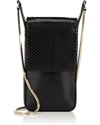 Lanvin - Mini Snakeskin Crossbody Bag - Lyst