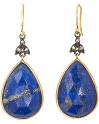 Sara Weinstock - Lapis Lazuli & Diamond Drop Earrings - Lyst