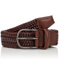 Barneys New York - Woven Leather Belt - Lyst