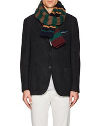 Drake's - Striped Wool Double - Lyst