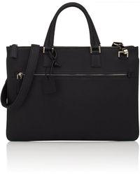 Barneys New York - Slim Leather Briefcase - Lyst