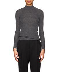 The Row - Steve Rib-knit Wool Mock Turtleneck Sweater - Lyst