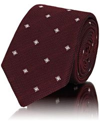 Barneys New York - Diamond-dot Waffle-textured Silk Necktie - Lyst
